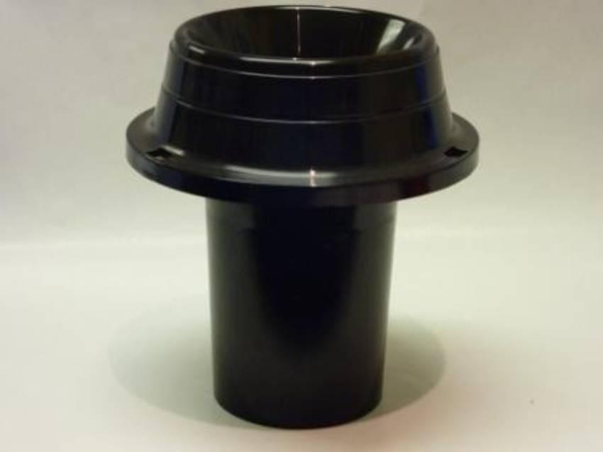Black Plastic Tulip Vase